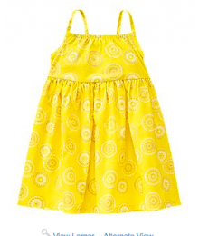 crazy8 yellow /gold glitter spaghetti dress Little Girl